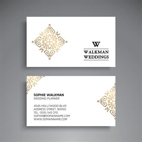 Wedding Planner Business by Wedding Planner Business Card Vector Premium
