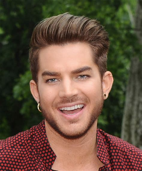 popular male hairstyles adam lambert short straight adam lambert short straight formal hairstyle light