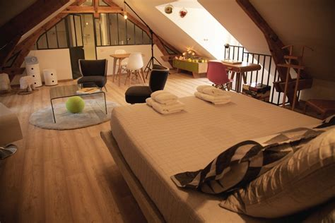 charming attic guest room at quot chez ric et fer quot bed breakfast in france freshome com