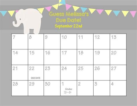 baby pool calendar template baby pool calendar template printable baby shower betting