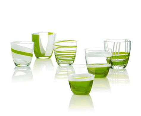 bicchieri verdi set 6 bicchieri acqua table verdi guzzini