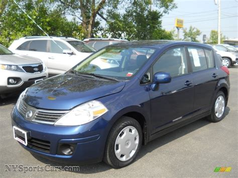nissan versa dark blue 2008 nissan versa 1 8 s hatchback in blue onyx 424425