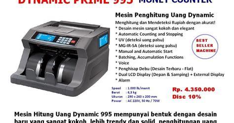 cv rdv indo print mesin hitung uang dynamic prime 995