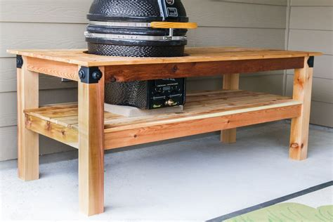 grill table plans free diy kamado grill table grill table kamado grill and
