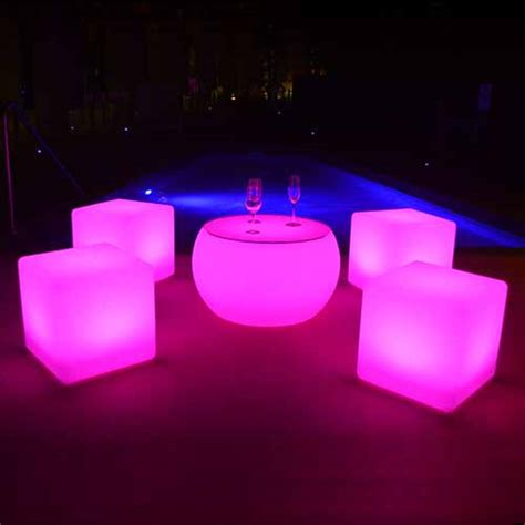 led cube seat lighting led cubes glow cubes 40cm led cube seats goglow