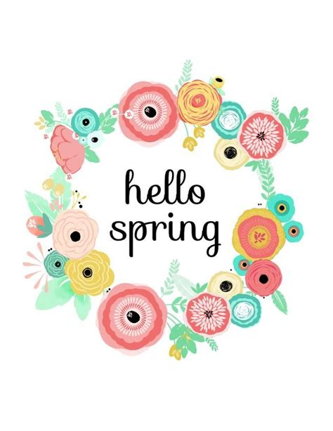 printable spring images hello clipart spring pencil and in color hello clipart