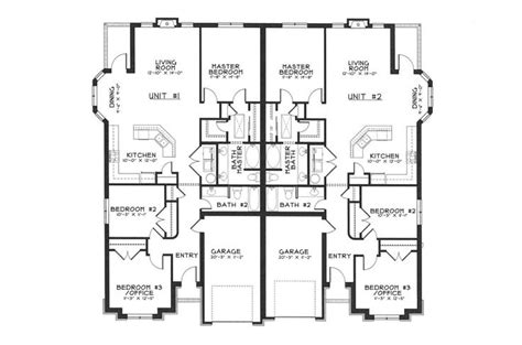 One Story Duplex House Plans by Single Story Duplex Floor Plans Duplex Ideas