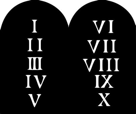 kostenlose vektorgrafik gebote religion zehn abraham