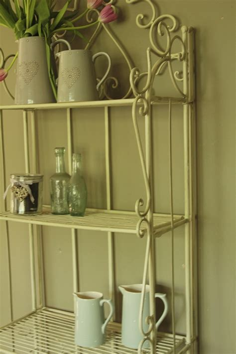Shabby Chic Bathroom Shelves Metal Shelf Unit Shabby Vintage Chic Bathroom Shelves Storage Kitchen Ebay