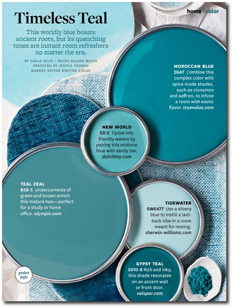 timeless teal paint colors  bhg interiors  color