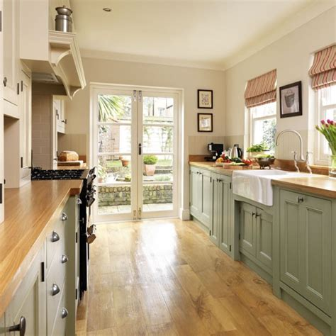 green painted kitchen practical layout step inside this traditional muted