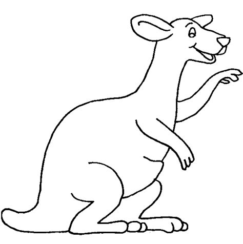 kangaroo coloring pages for kids coloring part 4