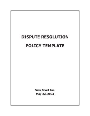 dispute resolution policy template fillable dispute resolution policy template doc
