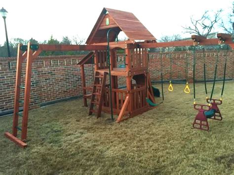 wooden swing sets with monkey bars add monkey bars to swing set 2 or 3westtexasswingsets com