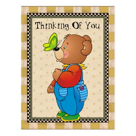 card template thinking of you thinking of you country postcard