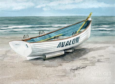 patterson boat company avalon lifeguard boat painting by nancy patterson
