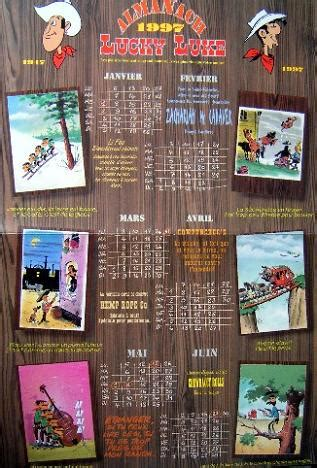 lucky productions lucky luke calendrier
