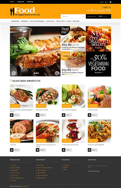 20 User Friendly Prestashop Templates For Your Online Catering Business Grocery Delivery Website Template
