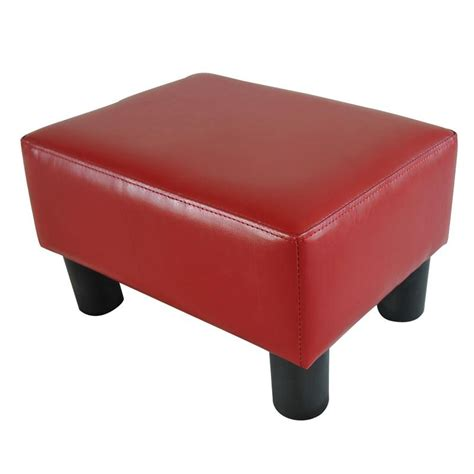 small ottoman stool homcom modern small pu leather ottoman footstool