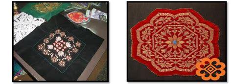 Sharifah Motif Bunga kraf tradisional tekat cikgu sharifah