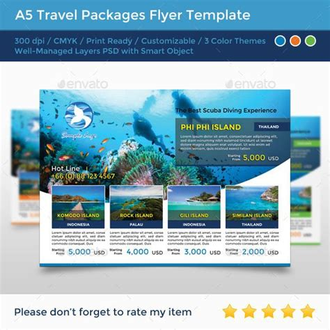A5 Travel Packages Flyer Flyer Template Travel And Travel Packages A5 Flyer Template