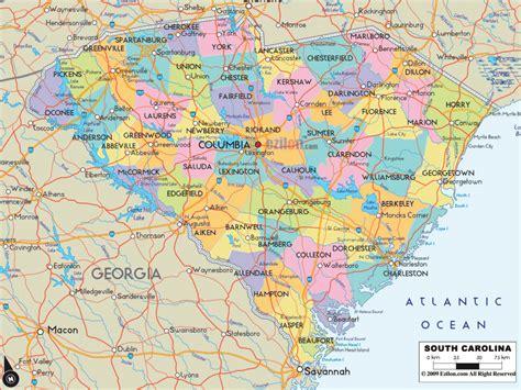 carolina south carolina map south carolina metro map toursmaps