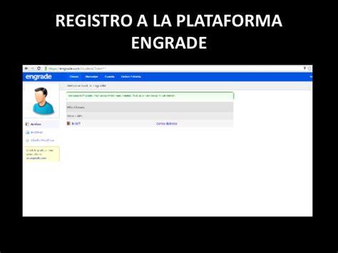 plataforma cdmx registro registro a la plataforma engrade