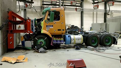 volvo trucks unveils highly anticipated new vnl volvo vnl 2018 crash test and safety demonstration youtube