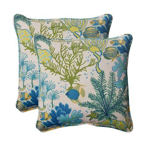 Tropical Throw Pillows For by Shop Pillow Splish Splash 2 Pack Blue Tropical