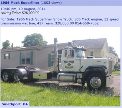 pennswoods dogs for sale 86 v8 superliner quot show truck quot on pa classifieds site trucks for sale