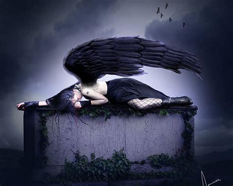sleeping dark angel wallpaper  angels wallpapers
