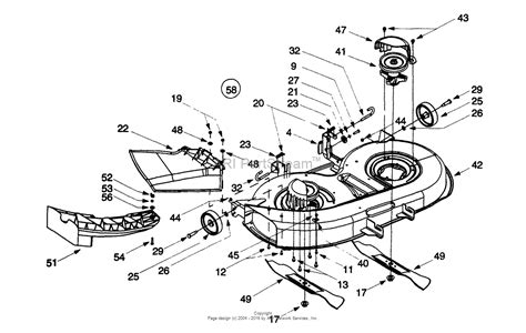 g diagram mtd 13ax604g401 1999 parts diagram for deck assembly g