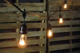 Commercial Patio Lights Edison Drop String Lights 48 Foot Black Wire Clear Commercial String Lights