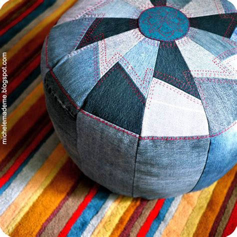 How To Make A Pouf Ottoman Make A Denim Pouf A Detailed Tutorial