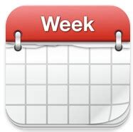 Calendrier Week Week Calendar Icona Db D Essai Cinema E Teatro