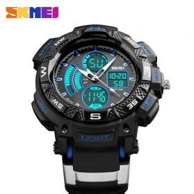 Skmei Jam Tangan Analog Digital Black Blue Ad1204 skmei jam tangan digital analog pria ad1211 black blue jakartanotebook