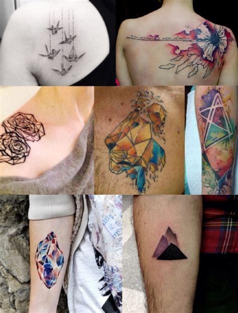 watercolor tattoos tumblr geometric watercolor