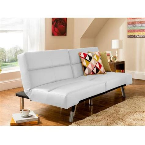tenby sofabed faux leather white asda 163 99 delivered
