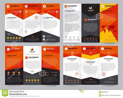 brochure template set editorial photography illustration