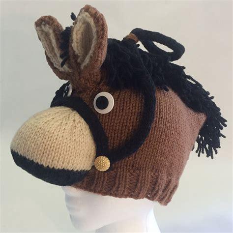 etsy horse pattern pattern knit horse hat