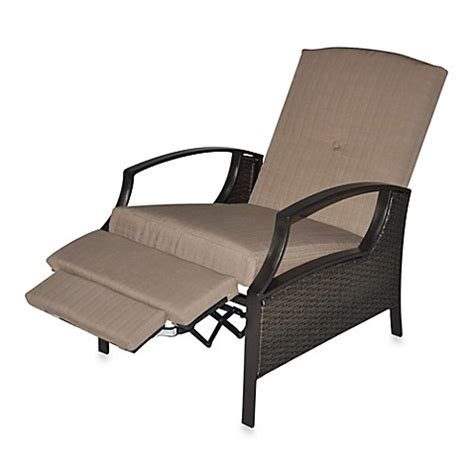 Garden Recliner Cushions All Weather Wicker Seating Cushion Outdoor Recliner With Cushions Bed Bath Beyond