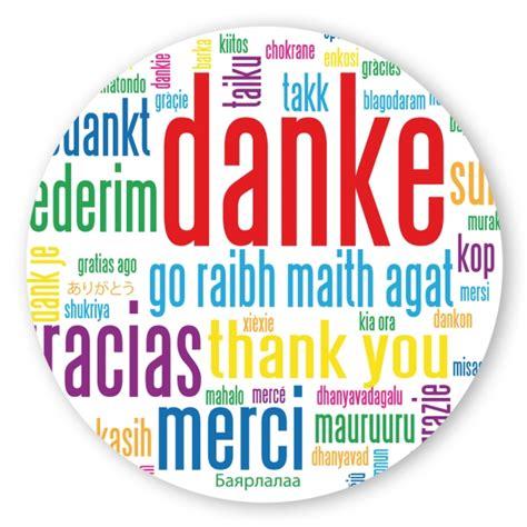 Sticker Druck Dm by Geschenk Aufkleber Quot Danke Quot In Verschiedenen Sprachen