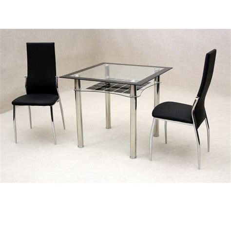 2 Chair Table Dining Sets Cheap Heartlands Jazo Black Glass Dining Table Set 2 Chairs For Sale