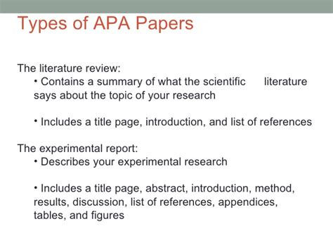 apa format introduction page apa style