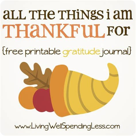 free printable gratitude journal all the things i m thankful for gratitude journal