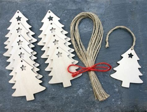 pin by eve clay on blogilates by cassey ho pinterest christmas tree wooden gift tag hanging decoration rustic
