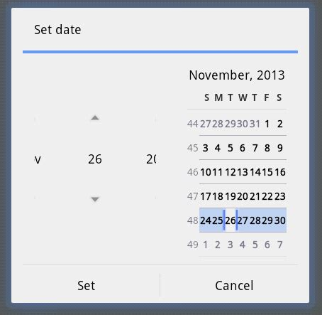 android default datepicker dialog layout config issue datapicker dialog window not showing properly in some e