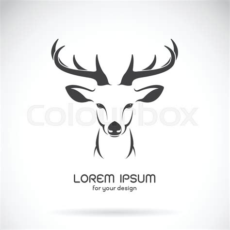 vector image of a deer head design on white background