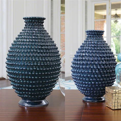 Pinecone Vase by Global Views Pinecone Vase Cobalt Small