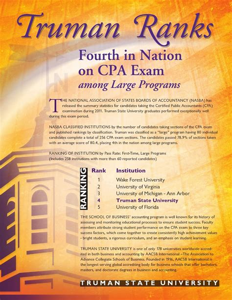 cpa exam which section to take first truman students continue to rock cpa exam
